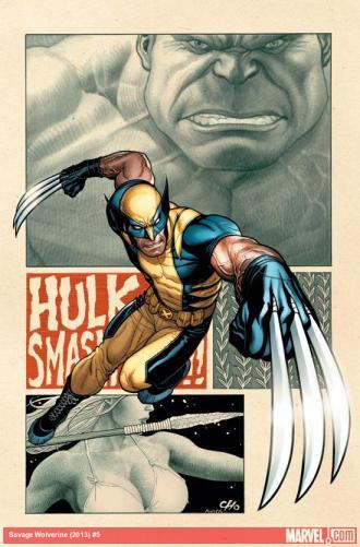Hulk vs. Wolverine: Savage Wolverine number 5 by Frank Cho coming in May