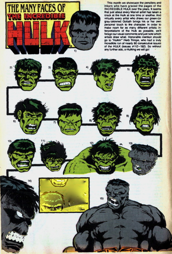 many faces of Hulk