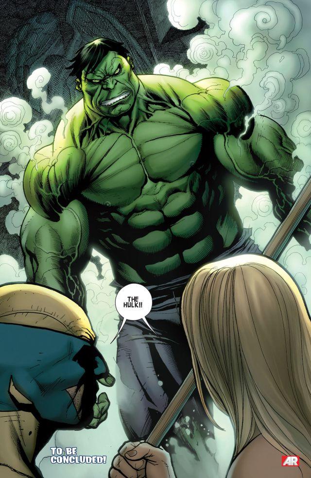 savage wolverine 4 Hulk last page