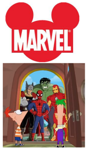 phineas and ferb marvel