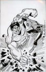 Hulk vs Spidey by Sal Buscema