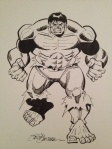 Sal buscema Hulk commission inks