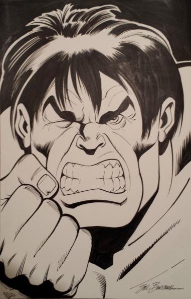 Sal Buscema Hulk homage to Bob Larkin painting