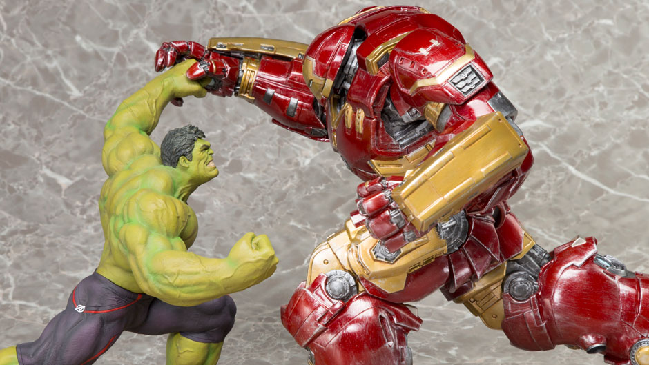 New Avengers Age Of Ultron Statues From Kotobukiya Hulk Vs