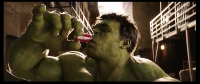 Hulk like Coke!