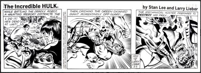 Hulk strip by Lieber and Sinott