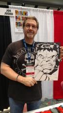 Joe Jusko Bob Larkin Hulk homage Fan Expo 2017