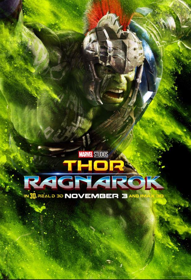 New Hulk poster for Thor Ragnarok