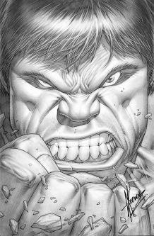 Bob Larkin Hulk poster homage Dale Keown